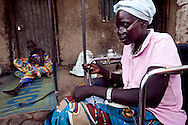 Rose a HIV positive patient at the VCT center at the Nimule Hospital. Rose helped start the hospital's HIV support group.