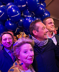 11.10.2015, FPÖ Festzelt, Wien, AUT, Wien-Wahl 2015, im Bild v.l.n.r. Manfred Haimbuchner, Ursula Stenzel, FPÖ Spitzenkandidat Heinz-Christian Strache und Johann Gudenus // during elcetion to the vienna city council at FPOe tent in Vienna, Austria on 2015/10/11, EXPA Pictures © 2015, PhotoCredit: EXPA/ Michael Gruber