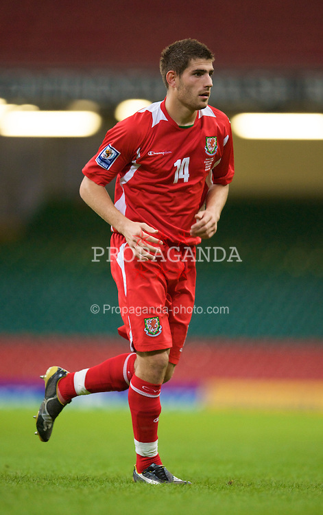 CARDIFF, WALES - Friday, September 5, 2008: Wales' Ched Evans in action against Azerbaijan during the opening 2010 FIFA World Cup South Africa Qualifying Group 4 match at the Millennium Stadium. (Photo by David Rawcliffe/Propaganda)