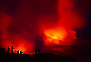 Lava into Ocean, Kilauea Volcanoes, Island of Hawaii, Hawaii, USA<br />