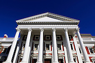 The House of Parliment in the downtown  area of Cape Town South Africa,  Photo by Dennis Brack...