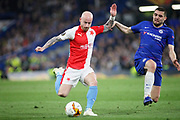 Slavia Prague's Miroslav Stoch (17) during the Europa League quarter-final, leg 2 of 2 match between Chelsea and Slavia Prague at Stamford Bridge, London, England on 18 April 2019.