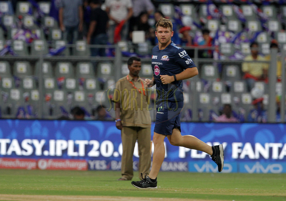 Mumbai Indians player Corey Anderson before the start of the match 1 of the Vivo Indian Premier League ( IPL ) 2016 between the Mumbai Indians and the Rising Pune Supergiants held at the Wankhede Stadium in Mumbai on the 9th April 2016<br /> <br /> Photo by Vipin Pawar/ IPL/ SPORTZPICS