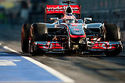 Jenson Button (GBR) drives the Vodafone Mclaren Mercedes MP4-27   Formula One Testing, Circuit de Catalunya, Barcelona, Spain, World Copyright: Jamey Price