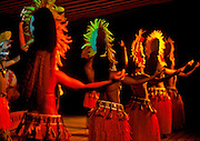 Image of native hula dancers in Papeete, Tahiti, French Polynesia