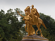 William Tecumseh Sherman Monument at Grand Army Plaza; Fifth Avenue between 59th and 60th Streets.