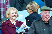 Hearts owner Ann Budge in the stand before the Betfred League Cup semi-final match between Heart of Midlothian FC and Celtic FC at the BT Murrayfield Stadium, Edinburgh, Scotland on 28 October 2018.