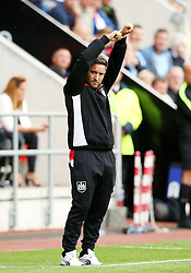 Bristol City head coach Lee Johnson gestures towards the officials about time wasting - Mandatory by-line: Matt McNulty/JMP - 10/09/2016 - FOOTBALL - Aesseal New York Stadium - Rotherham, England - Rotherham United v Bristol City - Sky Bet Championship