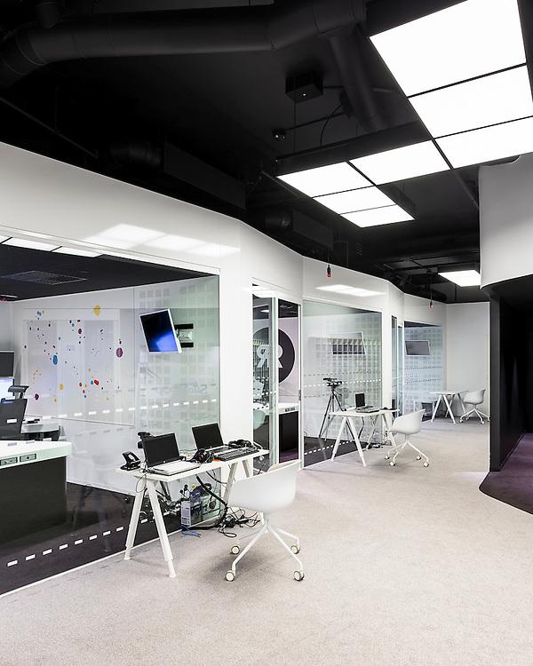 Nelonen media radio studios in Helsinki, Finland designed by Jarkko Könönen.