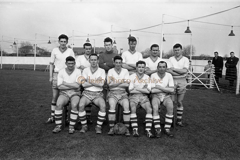17/02/1963<br /> 02/17/1963<br /> 17 February 1963<br /> Soccer: Transport v Cobh Ramblers at Harold's Cross, Dublin.<br /> The Cobh Ramblers team.
