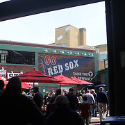 A Red Socks sign in the food area during the Boston Red Sox V Tampa Bay Rays, Major League Baseball game on Jackie Robinson Day, Fenway Park, Boston, Massachusetts, USA, 15th April, 2013. Photo Tim Clayton