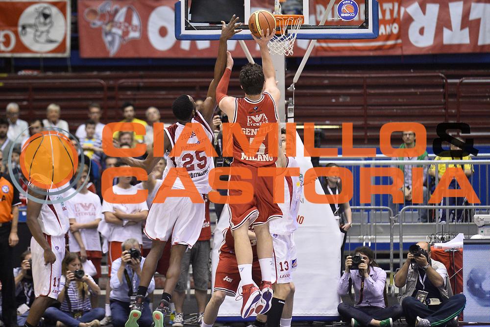 DESCRIZIONE : Campionato 2013/14 Quarti di Finale GARA 2 Olimpia EA7 Emporio Armani Milano - Giorgio Tesi Group Pistoia<br /> GIOCATORE : Alessandro Gentile<br /> CATEGORIA : Tiro Controcampo<br /> SQUADRA : Olimpia EA7 Emporio Armani Milano<br /> EVENTO : LegaBasket Serie A Beko Playoff 2013/2014<br /> GARA : Olimpia EA7 Emporio Armani Milano - Giorgio Tesi Group Pistoia<br /> DATA : 21/05/2014<br /> SPORT : Pallacanestro <br /> AUTORE : Agenzia Ciamillo-Castoria / GiulioCiamillo<br /> Galleria : LegaBasket Serie A Beko Playoff 2013/2014<br /> Fotonotizia : Campionato 2013/14 Quarti di Finale GARA 2 Olimpia EA7 Emporio Armani Milano - Giorgio Tesi Group Pistoia<br /> Predefinita :