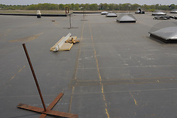 Roof Replacement and Mechanical Upgrades Stratford School For Aviation Maintenance Technicians.  Project No: BI-RT-860<br /> Contractor: Silktown Roofing, Manchester CT.<br /> James R Anderson Photography   New Haven CT   photog.com<br /> Date of Photograph: 15 May 2014<br /> Camera View: South, Roof C  Image No. 09