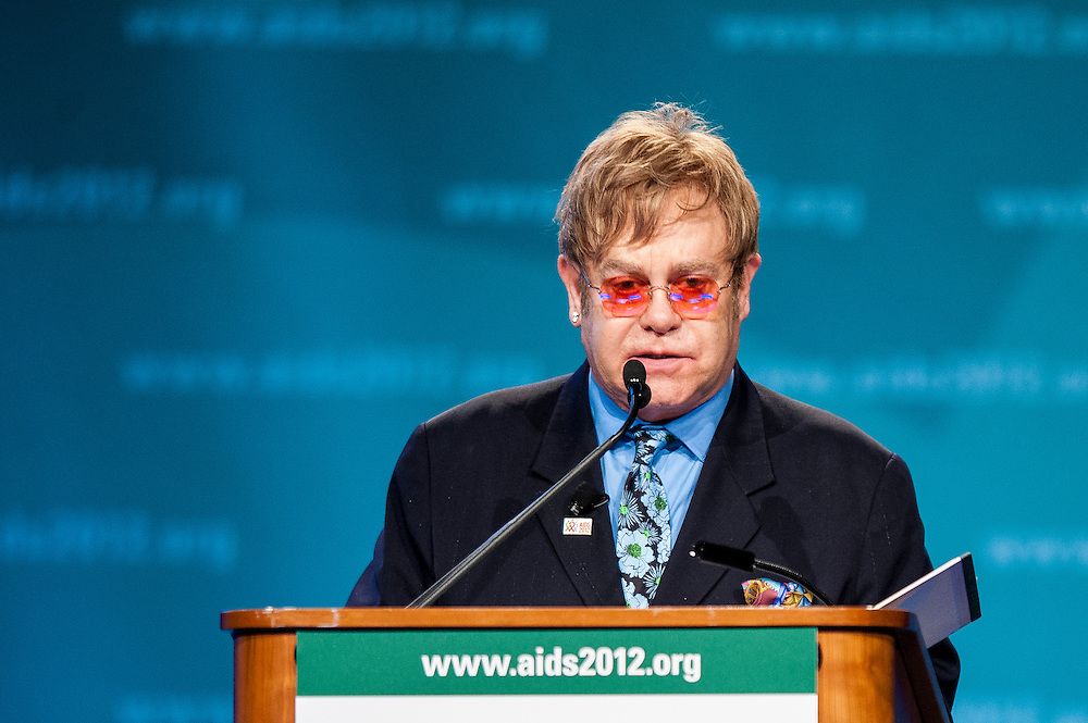 Speaking at the International AIDS Conference in Washington, D.C. on Monday, rock star ELTON JOHN and said that because he did not take precautions, he should have contracted HIV in the 1980s.