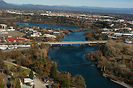 The city of Redding, California, is the major metropolitan area for the north state.  Interstate 5 runs through the city to the north and south and Hwy 44 and 299 run east to west.  Redding is located half way between Seattle and Los Angles.