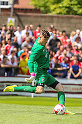 Michael Ingham during the Friendly match between York City and Middlesbrough at Bootham Crescent, York, England on 11 July 2015. Photo by Simon Davies.