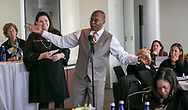 Moderated group discussion, turning dialogue into action during the Amgen Health Equity Summit 2018 held at the Newseum in Washington, DC on April 25, 2018. (Photo by Alan Lessig)