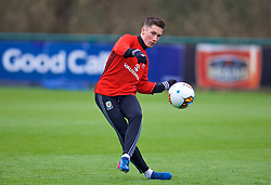 CARDIFF, WALES - Thursday, March 23, 2017: Wales' Harry Wilson during a training session at the Vale Resort ahead of the 2018 FIFA World Cup Qualifying Group D match against Republic of Ireland. (Pic by David Rawcliffe/Propaganda)