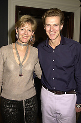 MR & MRS JAMES OGILVY, he is the son of Princess Alexandra, at a party in London on 25th September 2000.OHH 40