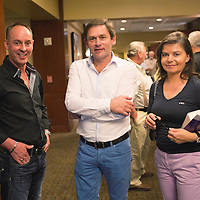 Mark Evans with Jos Thone and his wife Gaby AU Pigeon Convention in Tampa, Fl., on Thursday, November 21, 2013. Photo by David Stephenson