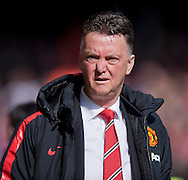 Manchester United manager Louis van Gaal before the Barclays Premier League match at Anfield, Liverpool<br /> Picture by Russell Hart/Focus Images Ltd 07791 688 420<br /> 22/03/2015