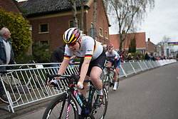 Mieke Kröger (GER) of CANYON//SRAM Racing finishes in fourth place during Stage 4 of the Healthy Ageing Tour - a 126.6 km road race, starting and finishing in Finsterwolde on April 8, 2017, in Groeningen, Netherlands.