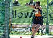 GERMISTON, SOUTH AFRICA, Friday 29 March 2012, Jennifer Janse Van Vuuren of Free State in the hammer throw during the Yellow Pages South African Junior and Schools Athletic Championships at the Germiston Stadium..Photo by Roger Sedres/Image SA