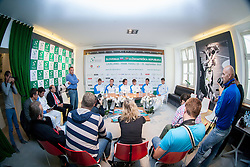 Team of Slovenia during press conference of Davis cup Slovenia vs South Africa competition on September 10, 2013 in Hisa sports, Ljubljana, Slovenia. (Photo by Vid Ponikvar / Sportida.com)