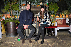 Tom Macklin and Sarah Ann Macklin at The Ivy Chelsea Garden's Guy Fawkes Party, 197 King's Road, London, England. 05 November 2017.