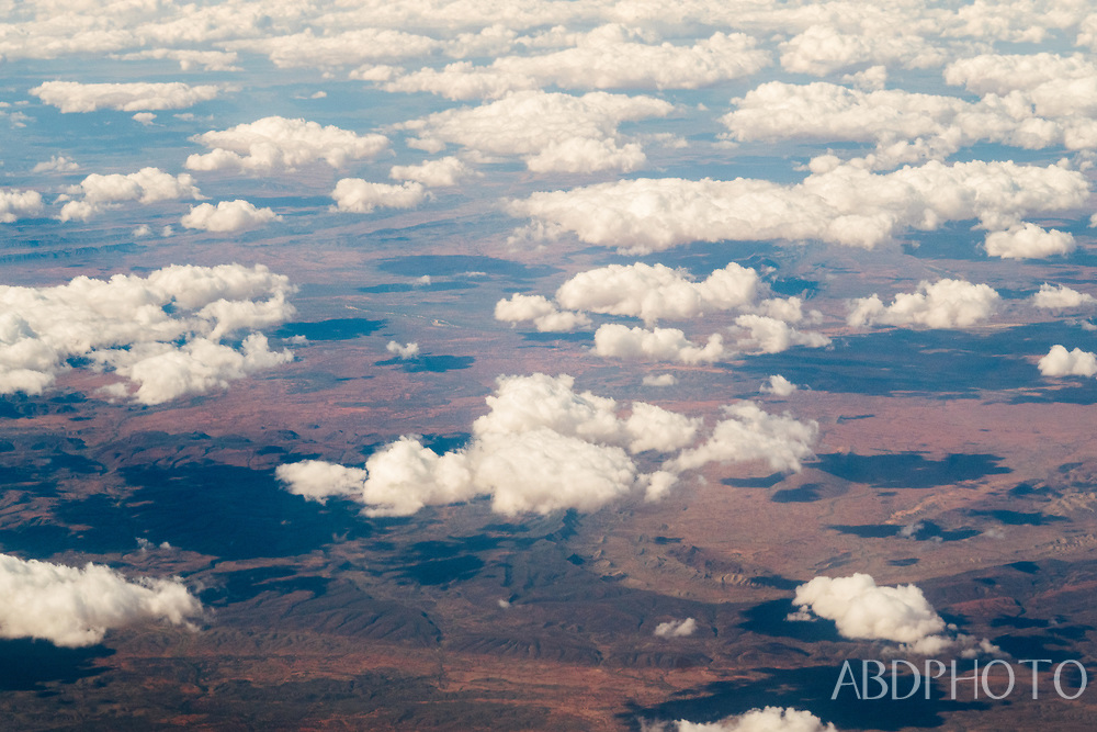 Australia desert from above, airplane view
