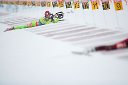 Gregorin Teja of Slovenia competes during Ladies 7,5 km Sprint of the e.on IBU Biathlon World Cup on Thursday, December 14, 2012 in Pokljuka, Slovenia. The third e.on IBU World Cup stage is taking place in Rudno polje - Pokljuka, Slovenia until Sunday December 16, 2012. (Photo By Vid Ponikvar / Sportida.com)