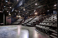 A view from the Fredric March Play Circle stage, which is a black box theater that is part of the Wisconsin Union Theater.  This space was renovated and reopened in 2014. It is located in the West Wing, second floor.