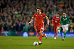 DUBLIN, IRELAND - Tuesday, October 16, 2018: Wales' Tom Lawrence during the UEFA Nations League Group Stage League B Group 4 match between Republic of Ireland and Wales at the Aviva Stadium. (Pic by David Rawcliffe/Propaganda)