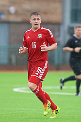 YSTRAD MYNACH, WALES - Thursday, February 19, 2015: Wales' Joe McNulty in action against Czech Republic during a friendly match at the Centre of Sporting Excellence. (Pic by Carl Robertson/Propaganda)