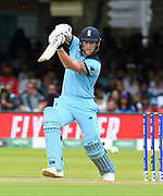Ben Stokes of England batting during the ICC Cricket World Cup 2019 Final match between New Zealand and England at Lord's Cricket Ground, St John's Wood, United Kingdom on 14 July 2019.