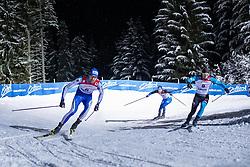 18.01.2019, Biathlonzentrum, Obertilliach, AUT, Dolomitenlauf, Dolomitensprint, im Bild v.l. Enrico Nizzi (ITA), Eric Storvall (FIN), Loic Guigonnet (FRA)// during the Dolomitenlauf Dolomitensprint at Obertilliach, Austria on 2019/01/18, EXPA Pictures © 2019 PhotoCredit: EXPA/ Dominik Angerer // during the sprint competition of the Dolomitenlauf at the Biathlonzentrum in Obertilliach, Austria on 2019/01/18. EXPA Pictures © 2019, PhotoCredit: EXPA/ Dominik Angerer