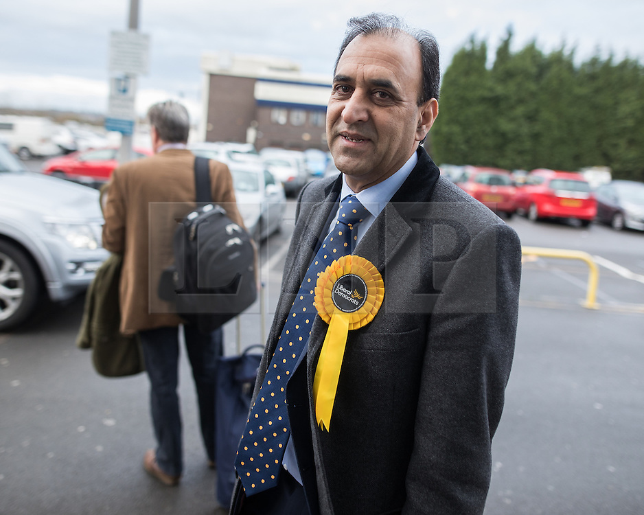 © Licensed to London News Pictures . 16/02/2017. Stoke-on-Trent, UK. ZULFIQAR ALI arrives . Hustings in Stoke-on-Trent Central by-election at the Quality Hotel in Stoke , for local businesses with Lib Dem candidate Dr Zulfiqar Ali, Conservative candidate Jack Brereton,  Labour candidate Gareth Snell and, in place of UKIP candidate Paul Nuttall who didn't turn up , Patrick O'Flynn . Photo credit: Joel Goodman/LNP