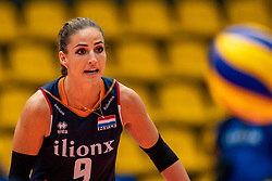 03-08-2019 ITA: FIVB Tokyo Volleyball Qualification 2019 / Netherlands, - Kenya Catania<br /> 3rd match pool F in hall Pala Catania between Netherlands - Kenya. Netherlands win 3-0 / Myrthe Schoot #9 of Netherlands