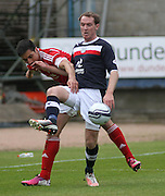 Gary Irvine and Rory Fallon  - Dundee v Aberdeen in the Clydesdale Bank Scottish Premier League at Dens Park.. - © David Young - www.davidyoungphoto.co.uk - email: davidyoungphoto@gmail.com