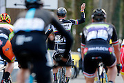 BELGIUM / NOKERE / CYCLING / WIELRENNEN / CYCLISME / 71TH NOKERE KOERSE / DEINZE TO NOKERE / NOKERE BERG / DANILITH CLASSIC ME 1.HC / AANKOMST / ARRIVE / FINISH / DUPONT TIMOTHY (VERANDAS WILLEMS CYCLING TEAM)