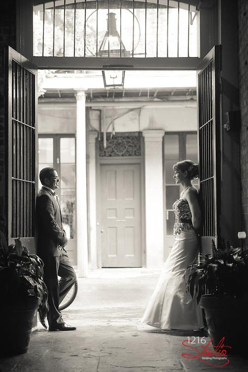 Jeff & Lisa _ Jackson Square 1216 Studio | New Orleans Wedding Photographers