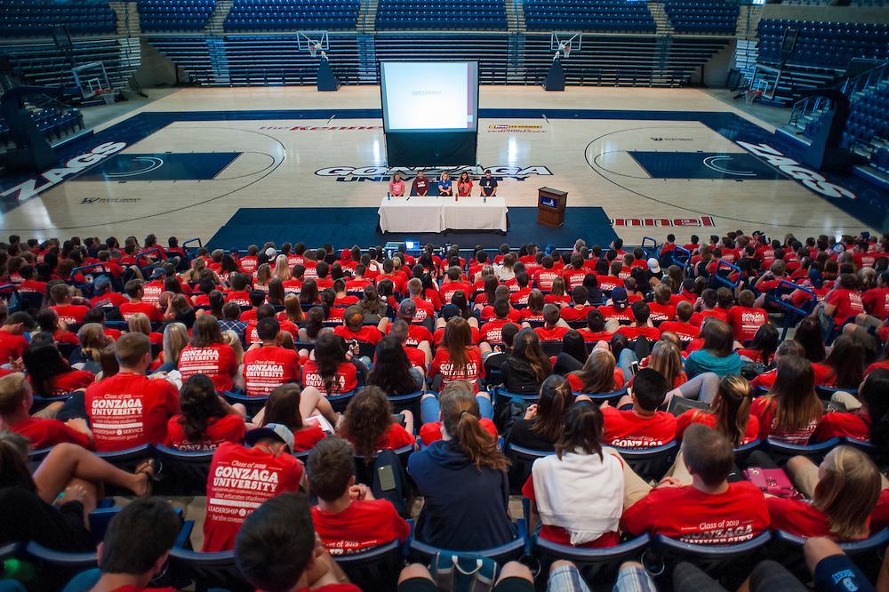 Back to School Orientation weekend at Gonzaga University. (Photo by Austin Ilg)