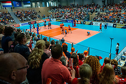 12-06-2019 NED: Golden League Netherlands - Estonia, Hoogeveen<br /> Fifth match poule B - The Netherlands win 3-0 from Estonia in the series of the group stage in the Golden European League / Dutch support, centercourt