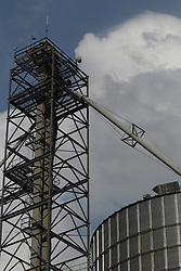 Grain elevator scaffolds and other parts and pieces of the storage facility