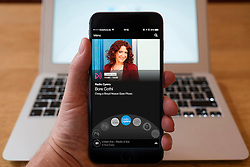 Using iPhone smartphone to display show on BBC Radio Cymru Welsh language radio station