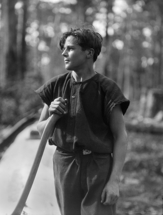 Young Axeman in Karri Forest, Western Australia, 1930