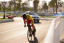 Sheyla Gutierrez (ESP) at the 28.9 km Elite Women's Individual Time Trial, UCI Road World Championships 2016 on 11th October 2016 in Doha, Qatar. (Photo by Sean Robinson/Velofocus).