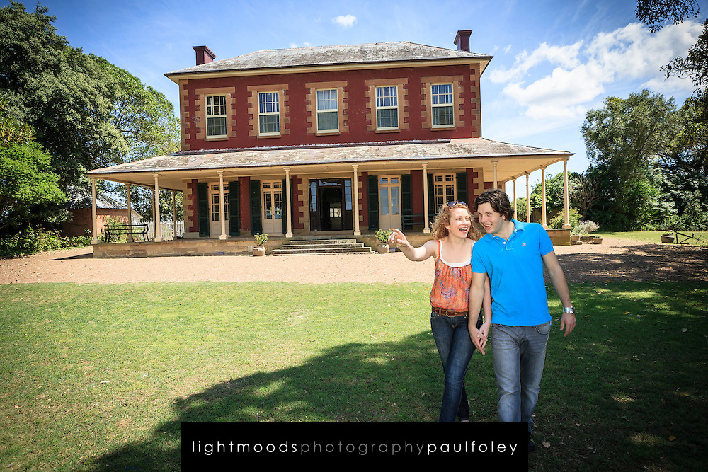 Couple exploring Tocal House, near Maitland, NSW, Australia