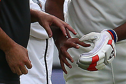 August 12, 2018 - London, Greater London, United Kingdom - Ravichandran Ashwin of India having problem with his finger during International Test Series 2nd Test 4th day  match between England and India at Lords Cricket Ground, London, England on 12 August  2018. (Credit Image: © Action Foto Sport/NurPhoto via ZUMA Press)