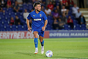 AFC Wimbledon defender Luke O'Neill (2) dribbling during the Pre-Season Friendly match between AFC Wimbledon and Bristol City at the Cherry Red Records Stadium, Kingston, England on 9 July 2019.